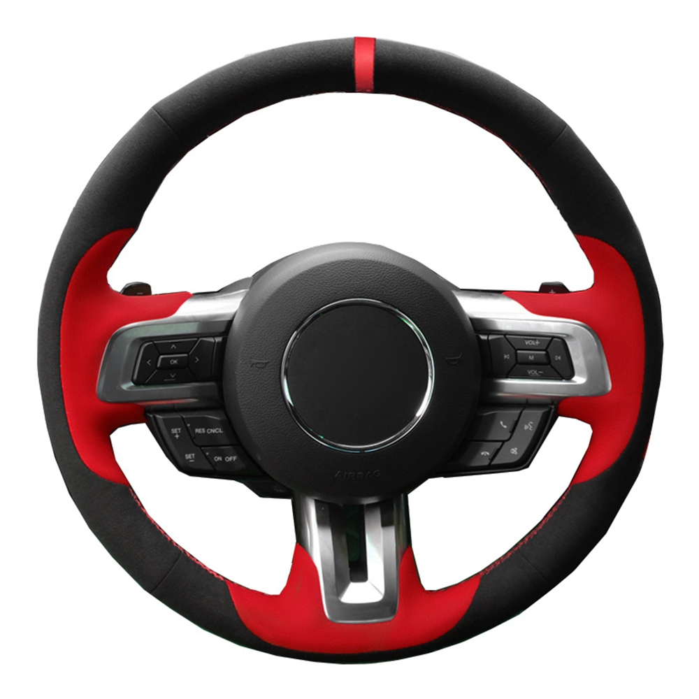 Hand stitched Car Steering Wheel Cover Black Genuine ...