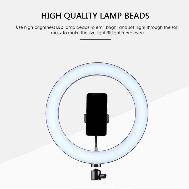 xingshengdejia 128 LED 3 Modes 8W 5500K Dimmable Studio Camera Ring Light Photo Phone Video Selfie Ring Light