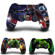 Marvel's The Avengers Stickers,PS4 Controller Skin Vinyl Decal Sticker for Sony PlayStation 4 DualShock 4 Wireless Controller(China)