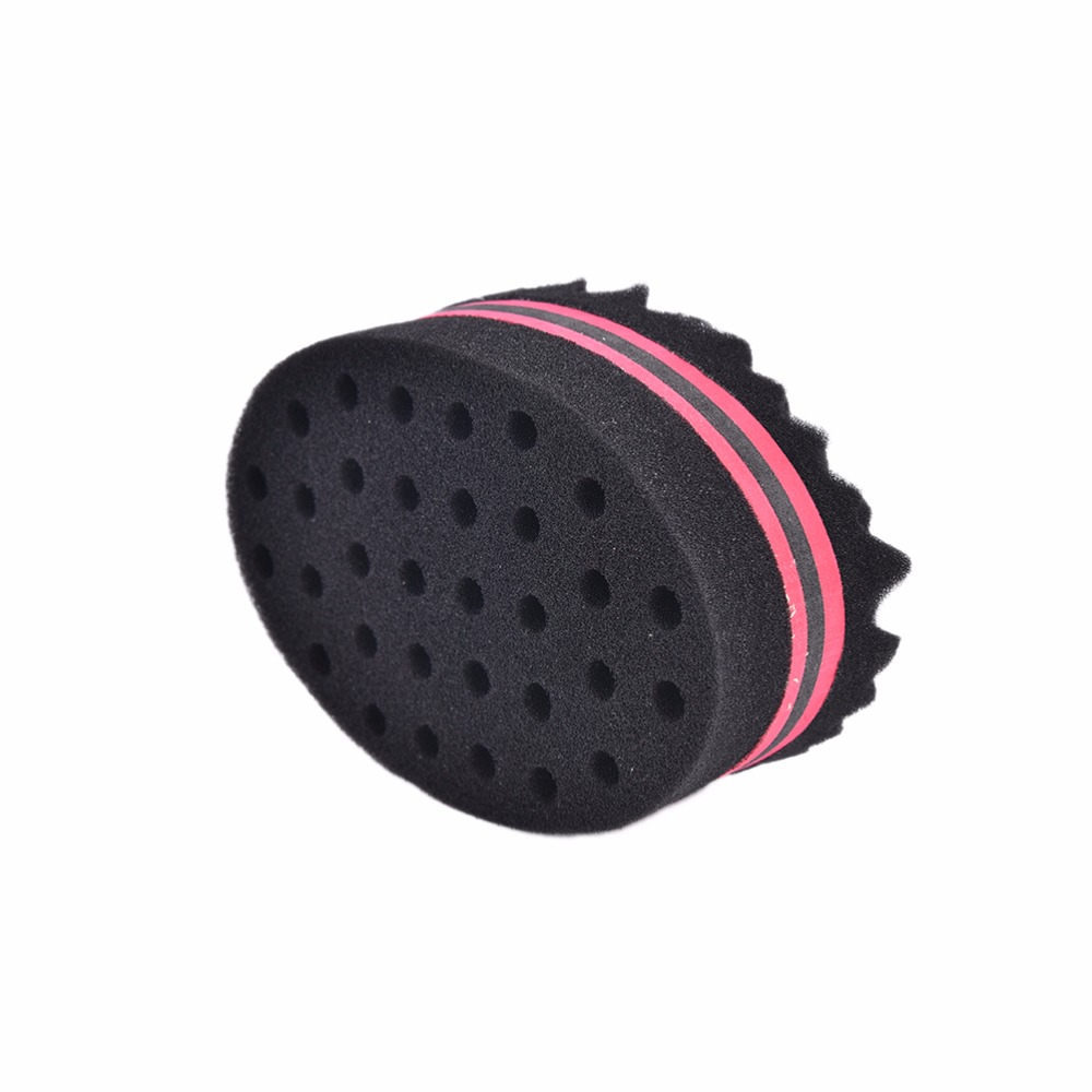 New 1pc High Quality Black Wave Barber Hair Brush Sponge For Dreads Afro Locs Twist Curl Coil Magic Tool