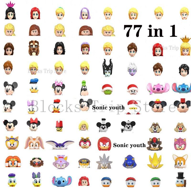 Новинка 2021, фигурки героев мультфильмов Диснея в классическом стиле, все персонажи, Микки и Минни, конструктор «сделай сам», Игрушечная моде...