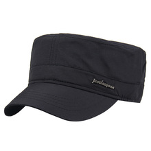 Men's quick-drying breathable flat top hat outdoor leisure military cap summer sun hat army big size baseball caps 56-62cm