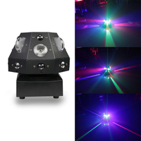 4 in 1stage laser light DMX 180° rotation colorful LED light DJ disco home entertainment beam show projector