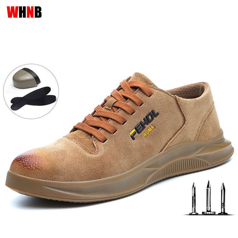 €12.56 39% de DESCUENTO|2019 nuevos zapatos de trabajo transpirables para hombre soldador Flor de Fuego ZAPATOS DE TRABAJO Anti punción suave base de