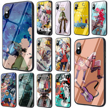 FLCL Tempered Glass Phone Cover Case for iPhone