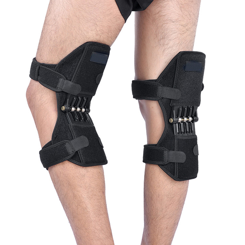1 Pair Breathable Non-slip Knee Booster Joint Knee Support Brace Kneepad Sports Climbing Training Squat Patella Protector Power