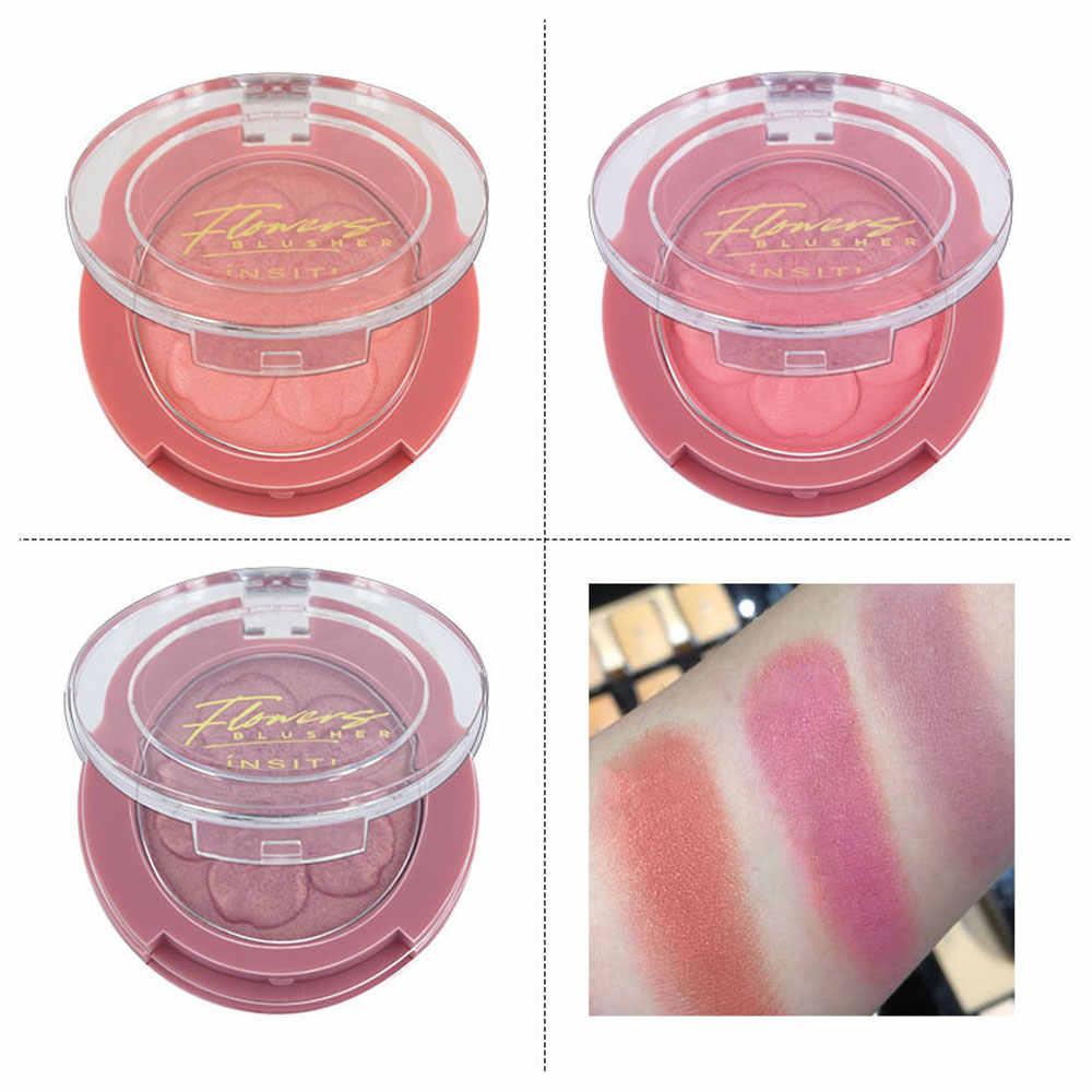 3 kleuren Gezicht Blusher Poeder Palet Roze Perzik Waterdichte Matte Langdurige Blusher make Professionele Vrouw Cosmetische Koreaanse