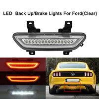 Clear LED Rear Fog Light Reversing Backup Brake For Ford Mustang 2015 2016 2017