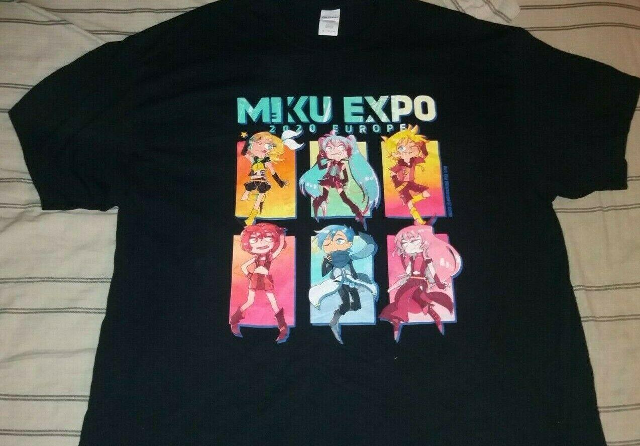 Hatsune Miku Expo 2020 Europe Vocaloid Concert Chibi Group Tee T-Shirt