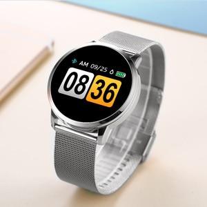 Image 5 - CYUC Q8 ساعة ذكية OLED شاشة ملونة الرجال موضة جهاز تعقب للياقة البدنية مراقب معدل ضربات القلب ضغط الدم الأكسجين عداد الخطى Smartwatch
