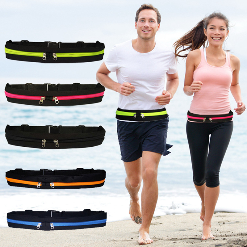 Small Portable Waterproof Sports Running Waist Bag Outdoor Phone Jogging Pouch Training Racing Hiking Cycling Belts Running Bag