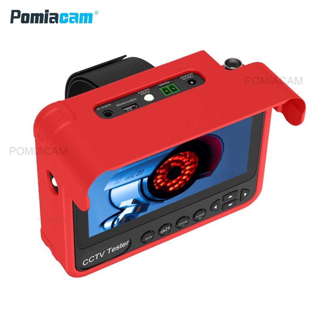 Güvenlik ve Koruma'ten CCTV Monitör ve Ekran'de V70 Analog CCTV Tester monitör 4.3 inç 5MP HD TVI AHD CVI CVBS otomatik adaptasyon cctv test monitörü title=