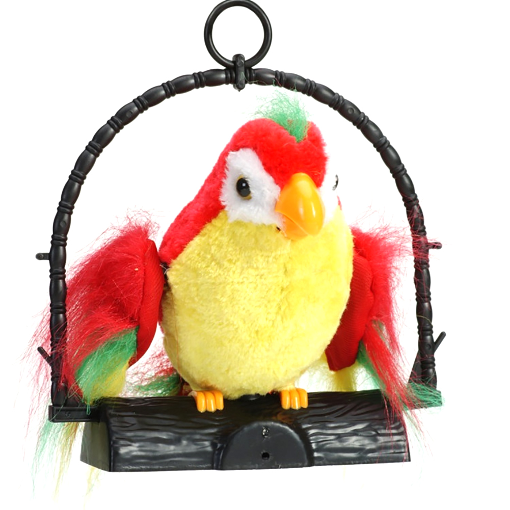 Funny Kids Toy Electric Parrot Recording Simulation Repeat Voice Mimics Party Home Decor Prank Hanging Imitate Talking Sound