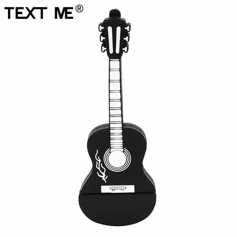 Wyślij mi wiadomość usb z postacią z kreskówki 2.0 instrument muzyczny gitara fortepianowa uwaga skrzypce 64GB pamięć usb pen drive 4GB 8GB 16GB 32GB U dysku