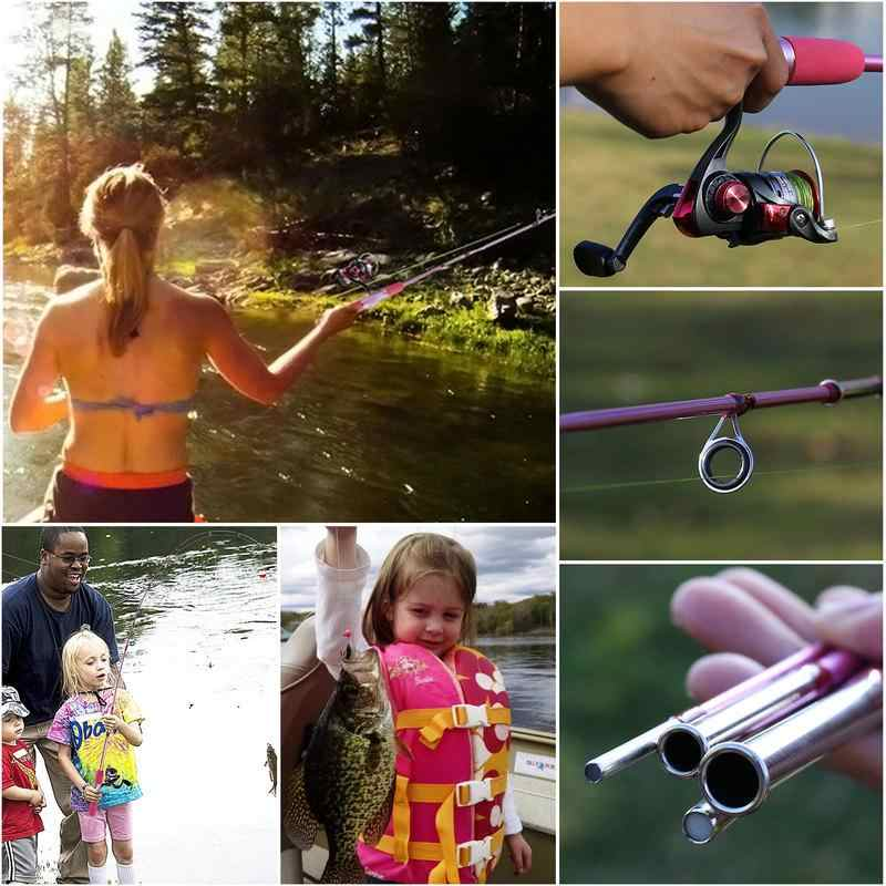 Sougayilang Portable Pink Fishing Rod Combo 1 55m Rod And Spinning Reel Lure Line Hook Full Set For Women Children Fishing Gift Aliexpress