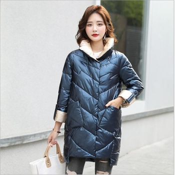 New Stand-up collar padded down cotton women jacket shiny self-cultivating fashion irregular bread clothing winter women jacket цена 2017
