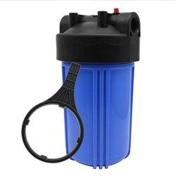 Cały dom osad wody 10 cal HD CLR WTR filtr  wyczyść miska  szary Cap