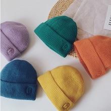 Women's Hat Beanie Wool-Hat Skullies Parenting Emeroidrey Winter Fashionable Solid Elastic
