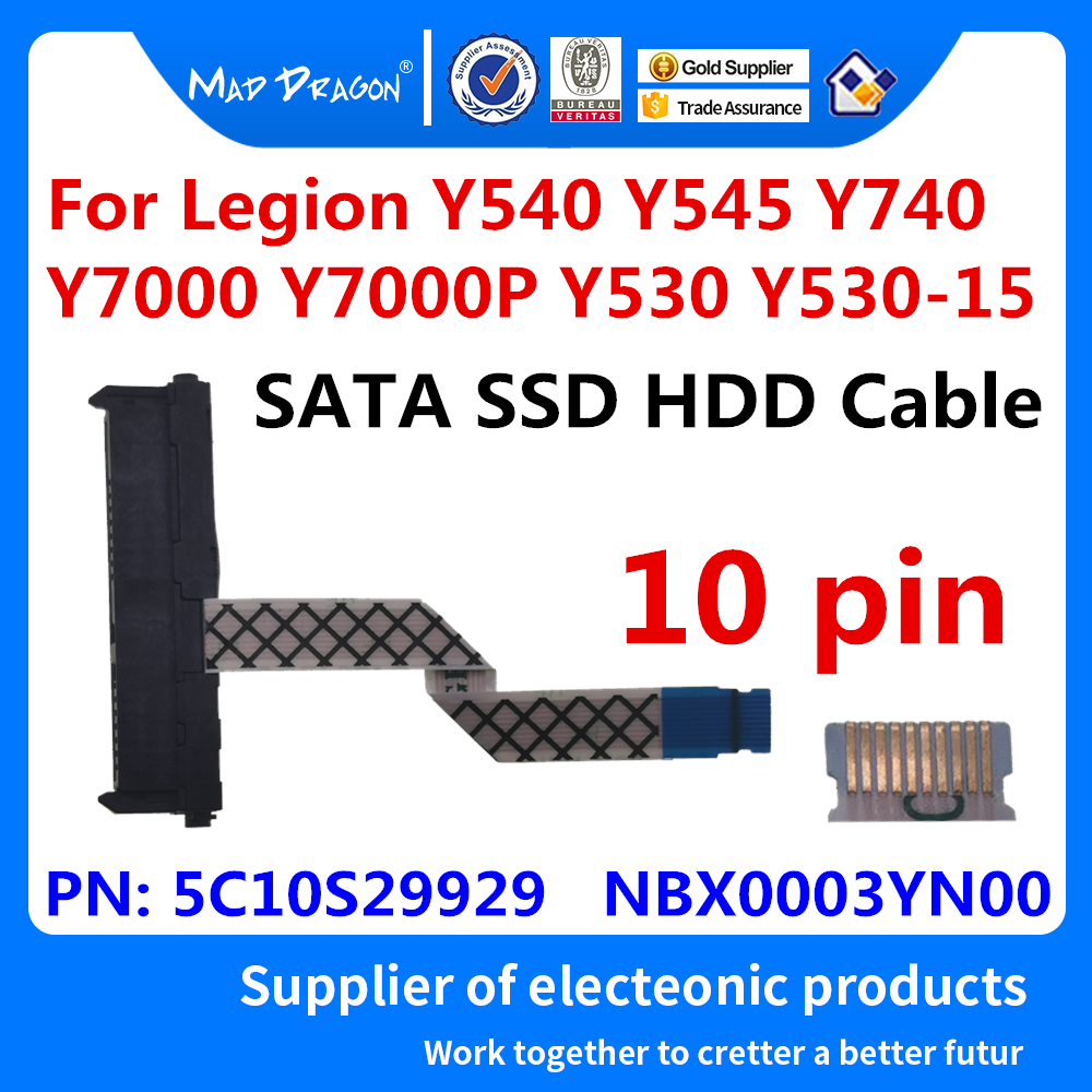 NEW SSD SATA Hard Drive Cable HDD Connector For Lenovo Legion Y540 Y545 Y740 Y7000 Y7000P Y530 Y530-15  5C10S29929  NBX0003YN00