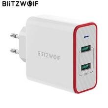 BlitzWolf 36W USB chargeur rapide prise ue double Ports adaptateur chargeur mural pour Xiaomi roidmi 2s S9 pour iPhone 8 pour Huawei P10 P20