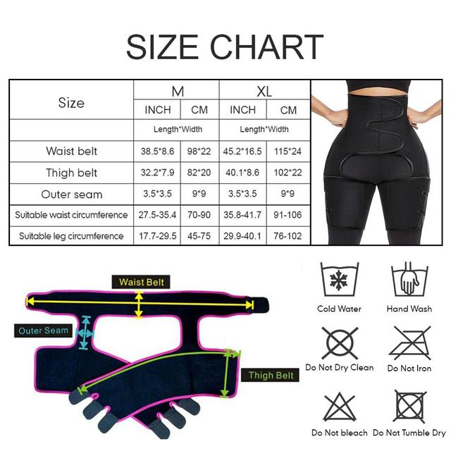 WAIST SECRET Woman Sweat Thigh Trimmers Leg Shaper Fajas Neoprene Slimming Belt Control Panties Fat Burning Wraps Thermo Belt 5