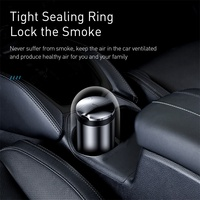 Baseus Car Ashtray Portable LED Light Cigarette Smoke Ashes Holder for Car Flame Retardant High Quality Ash tray Car Accessories