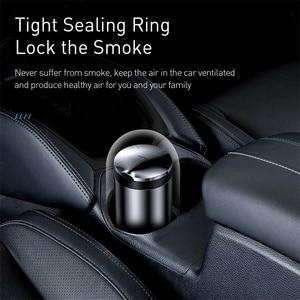 Image 4 - Baseus Car Ashtray Portable LED Light Cigarette Smoke Ashes Holder for Car Flame Retardant High Quality Ash tray Car Accessories