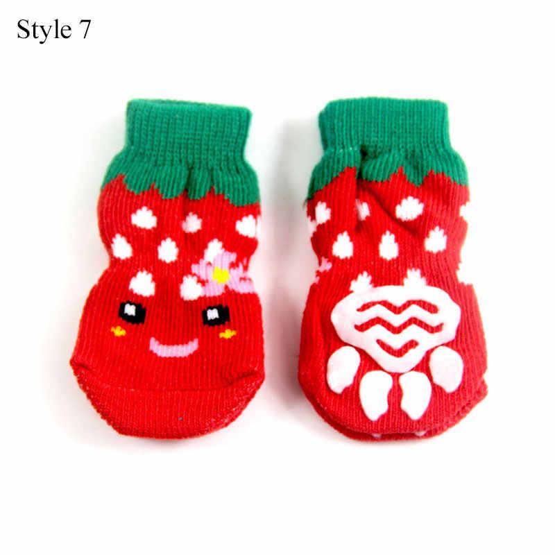 Hund Weihnachten Socken Haustier Hund Doggy Schuhe Schöne Weiche Warme Gestrickte Socken Kleidung Cartoon Streifen Kleine Hund Socke Hohe Qualität