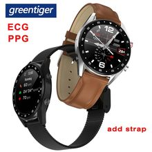 Greentiger L7 Bluetooth montre intelligente hommes ECG + PPG HRV fréquence cardiaque tensiomètre IP68 étanche Bracelet intelligent Android IOS(China)