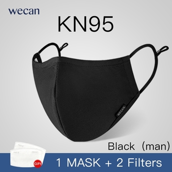 wecan factory KN95 cotton Anti-fog anti Dust Mouth Face reusable washable adult Mask with 2 filters