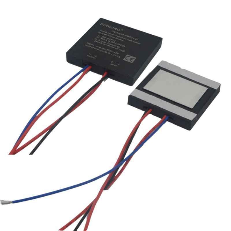 RipengPI tama/ño /único Interruptor t/áctil para espejo de ba/ño 5-12 V NA 4 sensor t/áctil para luz LED