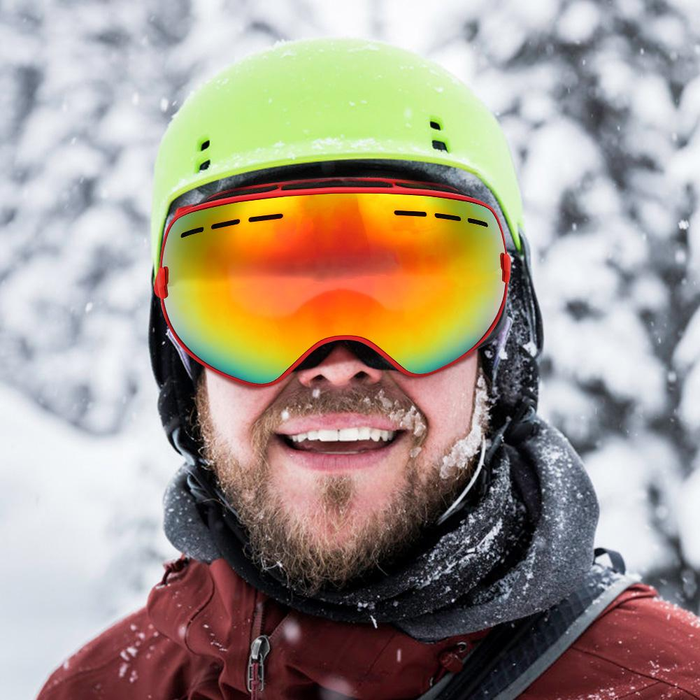 Ski Goggles Double Layers UV400 Anti-fog Big Ski Mask Glasses Skiing Snow Men Women Snowboard Goggles