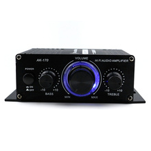 Автомобильный усилитель 12 В мини Hi-Fi Разъем усилитель-сабвуфер усилитель Радио MP3 Канал Стерео звук для автомобиля мотоцикла AK170
