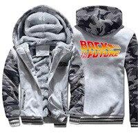 Back To The Future Winter Fashion Sportswear Coat Thick Printed 2019 Streetwear Sweatshirts Camouflage Hoodies Warm Clothing