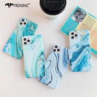 Texture Blue Marble Phone Case for iPhone 11 Pro Max XR X XS MAX Soft Silicone Matte Luxury Cases for iPhone 6 6s 7 8 Plus Cover
