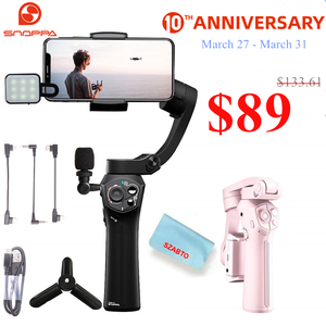 Image 1 - Snoppa Atom Foldable Pocket Sized 3 Axis Handheld Gimbal Stabilizer for iPhone Samsung XiaoMi Huawei for Gopro 6 7 PK Smooth 4