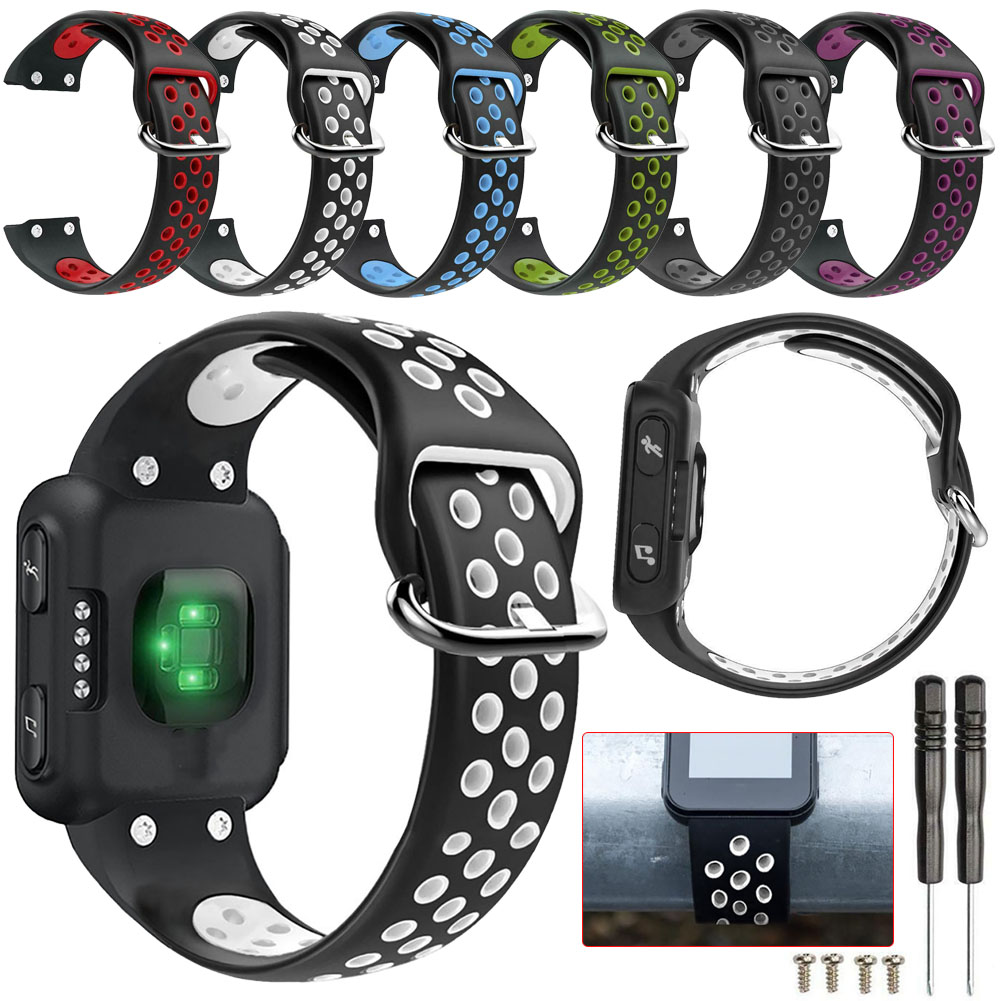 Sports Watch Band For Garmin Forerunner 35 Bracelet Strap Breathable Replacement Soft Silicone Belt For Garmin Forerunner 35