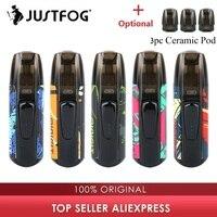 새로운 색상 키트 justfog minifit 포드 vape 키트 370 mah 배터리 및 1.5ml 카트리지 포드 시스템 포드 vape 키트 대 드래그 나노/kubi