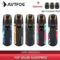 Novas cores kit justfog minifit vape pod kit com 370 mah bateria & 1.5ml cartucho pod sistema vape kit vs arrastar nano/kubi