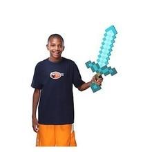 1Pc Game Mine Sword Toy Kids 45cm Soft EVA Foam Mosaic Blue Diamond Swords Toys for Children Boys Chirstmas Gifts