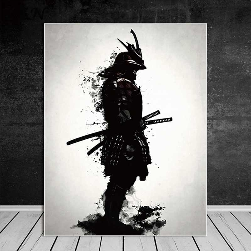 Vintage Japanese Samurai Canvas Posters Art Print Painting Modern Wall Deco Pictures for Living Room HD Home Decoration Unframed