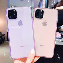 Luxury Glitter Diamond For iPhone 8 Phone Case For iPhone 11 Pro Max XS Max XR X 6 6S 7 Plus Transparent Case Soft Back Cover new iphone case for iphone 11 for iphone11 pro max 5 8 inches 6 1 inches 6 8 inches 6 6s 7 8 plus ix xr max x fashion back cover