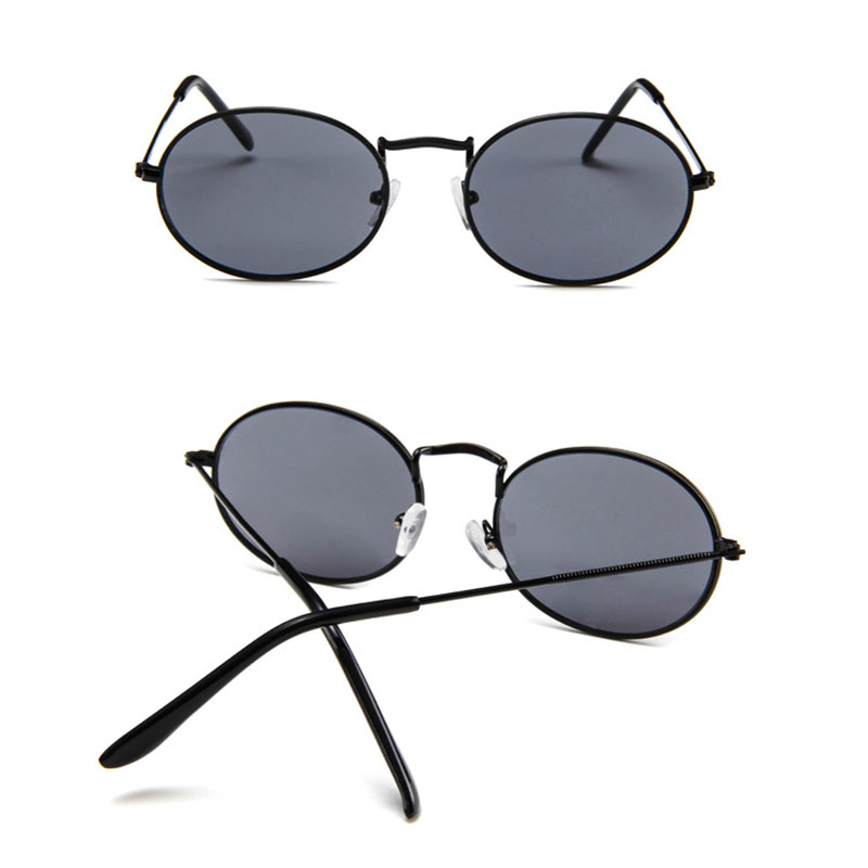 RBRARE New Arrival 2019 Women Sunglasses Retro Metal Oval Sunglasses Men Candy Color Transparent Sun Glasses Vintage Shades in Women 39 s Sunglasses from Apparel Accessories