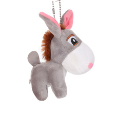 2020 Kids Cute Pendant Decor Toy Little donkey simulation plush Dressed Dolls Children Plush Stuffed Toys Soft Christmas gifts little donkey toys key chain plush animals soft baby kids toys for children girls boys kawaii mini donkey pendant keyring