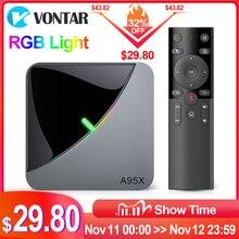 2020 A95X F3 Aria 8K RGB Luce Smart TV Box Amlogic S905X3 Android 9.0 4GB 64GB Plex media server Youtube Set Top Box