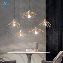 Pendant Lamp Living Room Decoration Interior Multi-Style Iron Hollow Out Gold Pendant Lighting