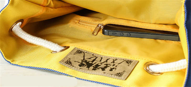 Sailor Moon Anime mochila Casual cordón haz Puerto dibujos animados azul mochila para niñas hombros bolsos mochila regalos de cumpleaños