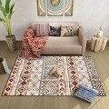 120x160cm American Moroccan retro ethnic style multicolor geometric ins homestay living room bedroom bedside carpet floor mats