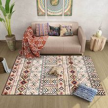 120x160cm American Moroccan retro ethnic style multicolor geometric ins homestay living room bedroom bedside carpet floor mats