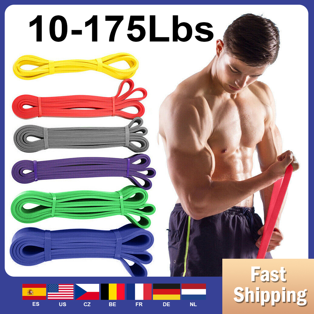 Resistance Band  Exercise Elastic Band Natural Latex Rubber Expander Power 208CM Yoga Rubber Loop Band Unisex